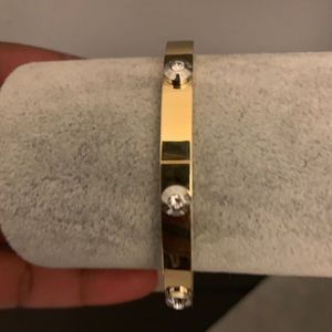 Henri Bendel bangle 12k gold plated stainless stl